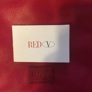 Valentino Bags - Valentino Red crossbody or clutch leather handbag